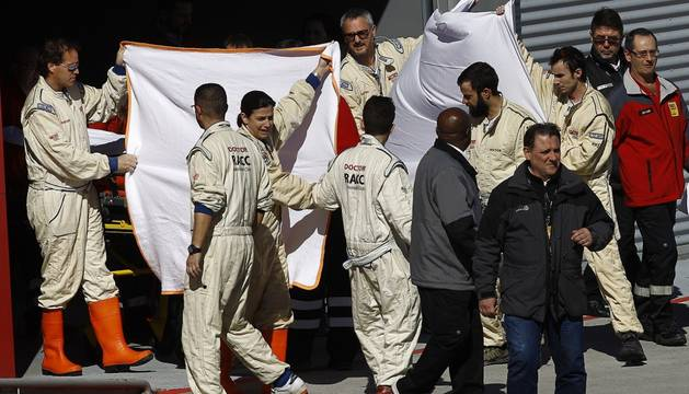 Alonso, evacuado al hospital