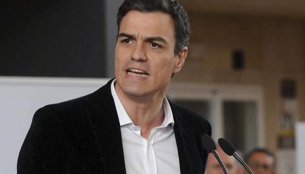 Pedro Sánchez, en León.