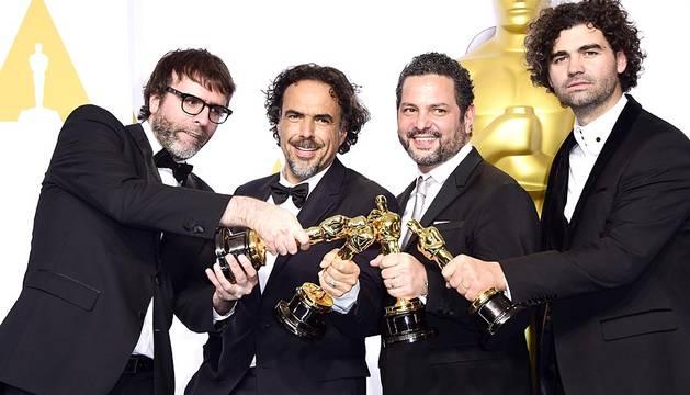 La emoción de los premiados en los Oscar