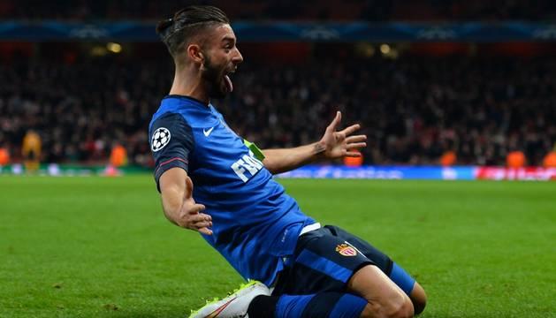 Ferreira-Carrasco celebra el tercer gol