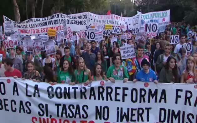 Huelga en institutos y universidades