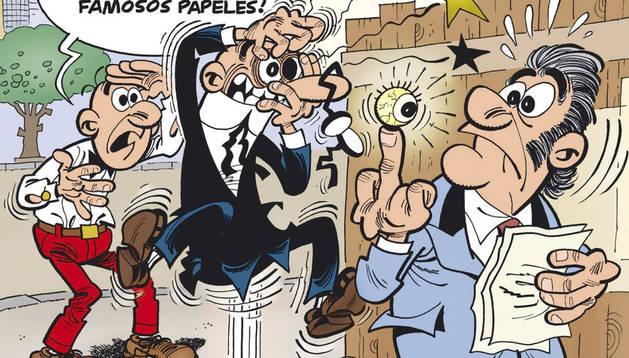 Mortadelo y Filemón buscan el dinero del 'Partido Papilar'