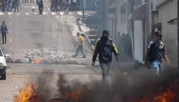 En la protesta de San Cristóbal, en Venezuela, en la murió el joven