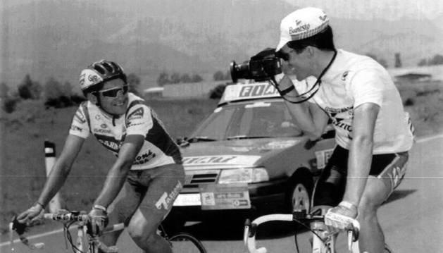 Chiappucci e Induráin, en el Giro