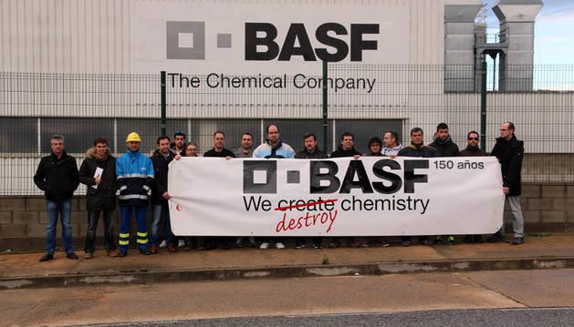 Una de las concentraciones celebradas por la plantilla de BASF Tudela