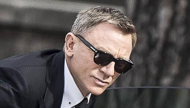 Daniel Craig, durante el rodaje de 'Spectre'.