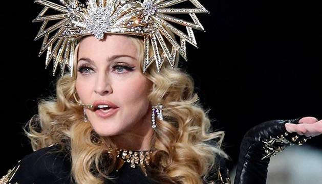 Madonna, durante una actuación en 2012.