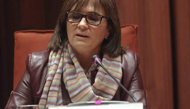 Marta Pujol, durante su comparecencia parlamentaria.