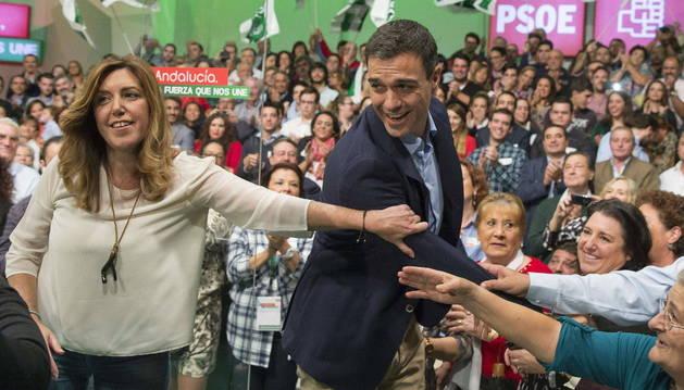 Susana Díaz sólo permite dos actos de Pedro Sánchez en Andalucía