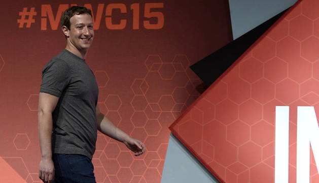 Mark Zuckerberg en el Mobile World Congress (MWC)