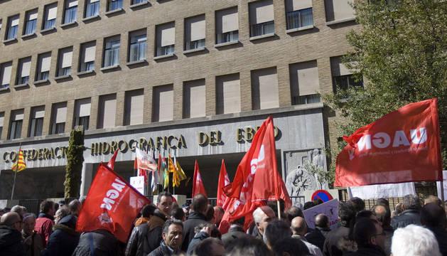 Agricultores navarros, convocados por La Unión de Agricultores y Ganaderos de Navarra.