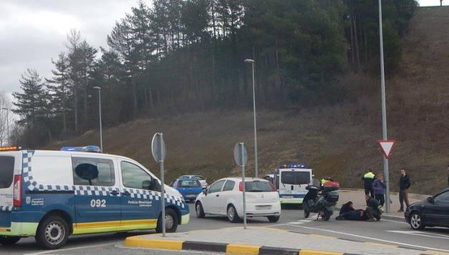 Imagen del detenido, tras el accidente