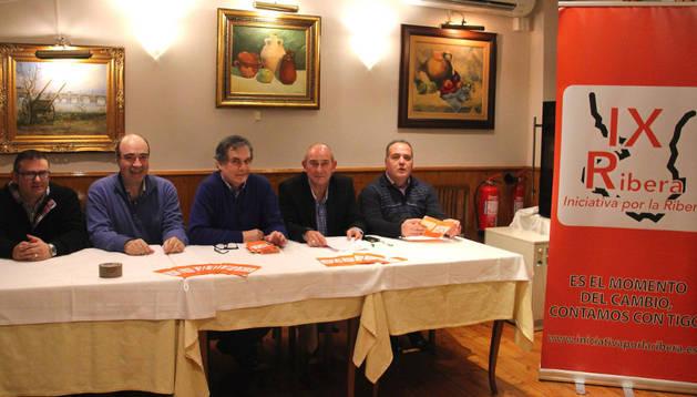 Los componentes de la de Tudela: de izda. a dcha., Juan Manuel Zaldívar (vocal); Víctor Melero Pagola (secretario); César Blázquez Castellanos (presidente); José Jiménez Rupérez (vicepresidente); y José Antonio Benítez (vocal).