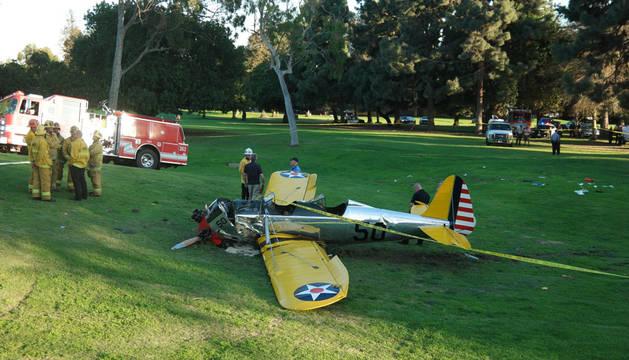 Harrison Ford, herido tras estrellar su avioneta