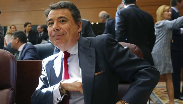 Ignacio González, en a Asamblea madrileña.