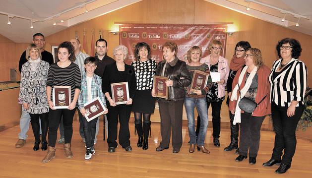 Las homenajeadas, tras el acto de entrega de los reconocimientos.