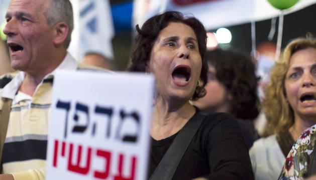 Manifestación contra Netanyahu