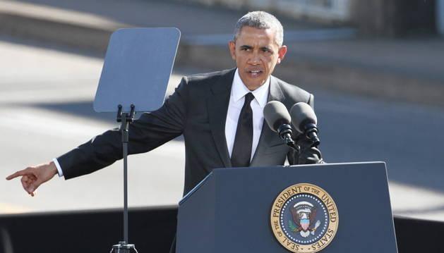 Obama, en el discurso pronunciado este sábado