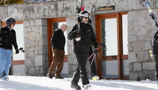 El Rey, esquiando en Baqueira