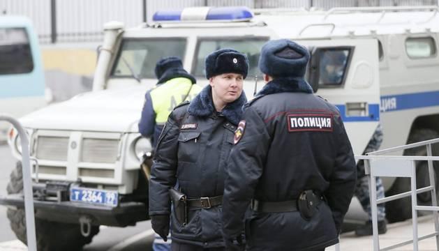 El furgón de los dos arrestados