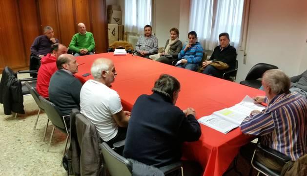 Reunión de representes de clubes navarros