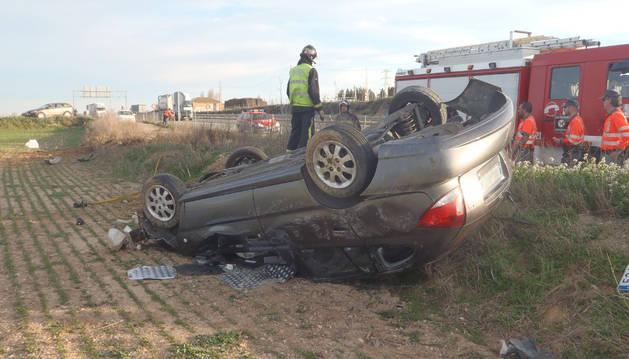 Imagen del coche tras el accidente
