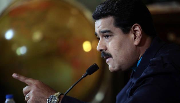 Nicolás Maduro, durante la reunión con su gabinete.