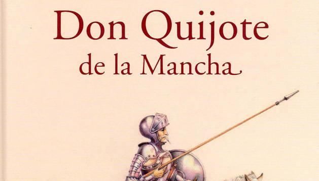 Portada de un libro de 'El Quijote'