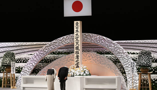 Japón guarda un minuto de silencio en el cuarto aniversario del tsunami