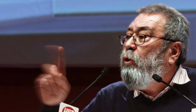 El secretario general de UGT, Cándido Méndez, durante su intervención en la de la II Asamblea Confederal Consultiva del sindicato
