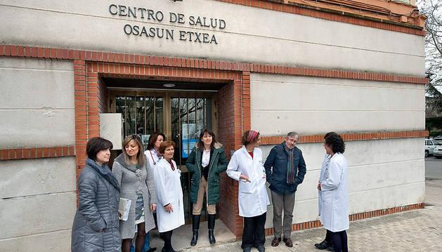 Vera, en su visita al centro de salud de Echavacoiz