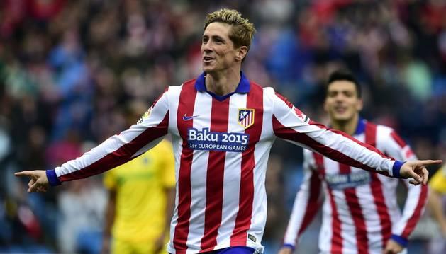 Fernando Torres celebra su gol contra el Getafe