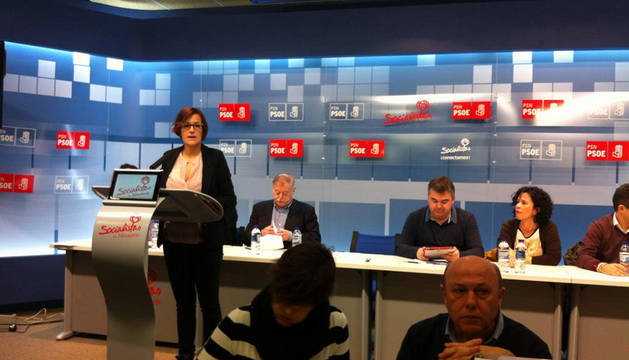 María Chivite, en el comienzo del Comité Regional.