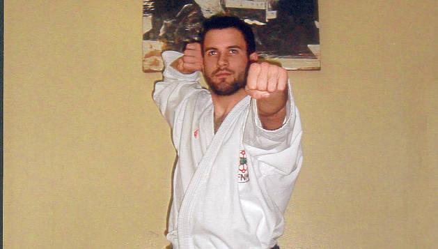 El karateka lodosano Gorka Erdociáin Berrueta