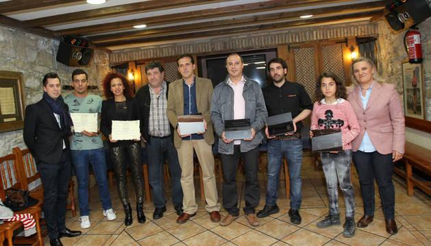 Ganadores de la primera edición del concurso de pinchos