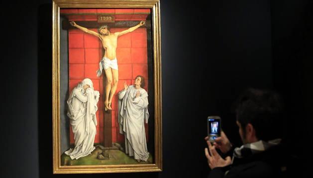 Vista del cuadro 'El Calvario', que forma parte de la exposición del Museo del Prado.