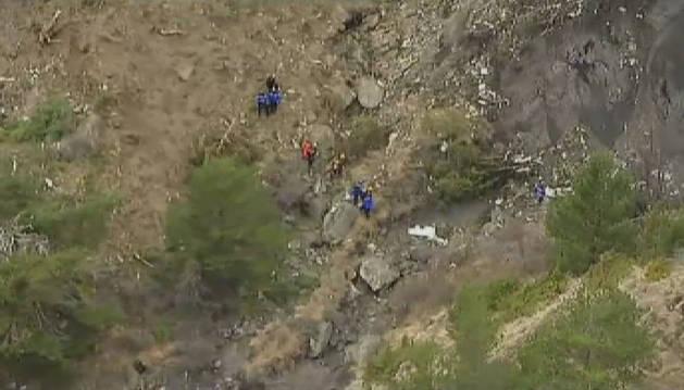Imágenes del lugar donde se estrelló el Airbus A-320