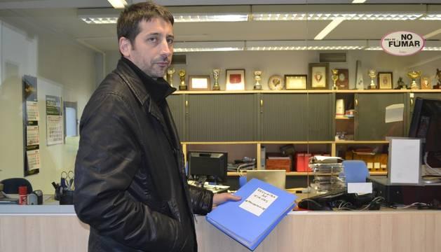 Enrique Ducun, en las oficinas de El Sadar.