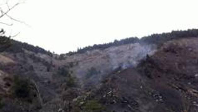 Imagen facilitada por la Gendarmería francesa del lugar del accidente.
