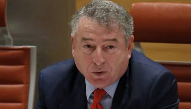 El presidente de RTVE, durante su comparecencia en el Senado