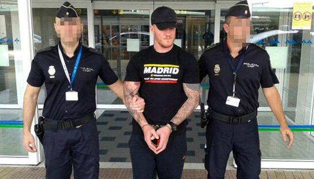 Shane Wallford fue arrestado el sábado en Fuerteventura.