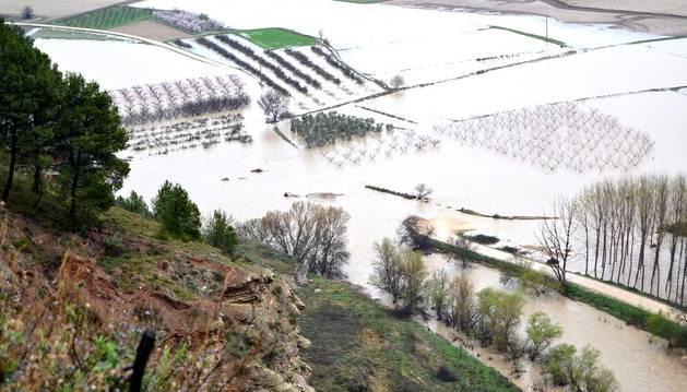 La 5ª inundación indigna a Cárcar, que no entiende por qué no se arregla la mota