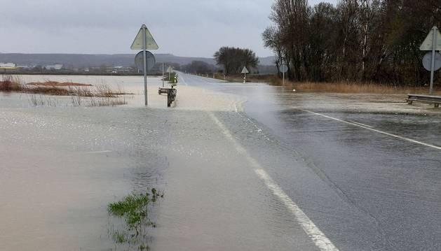 El Ebro corta la N-113 por tercera vez en menos de 2 meses y vuelve a anegar campos de la Ribera