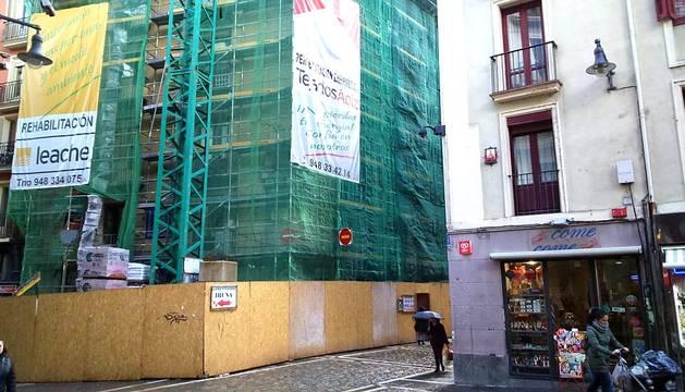 Estado actual de las obras en la calle Estafeta, 1