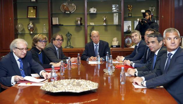 Barça, Athletic y RFEF, reunidos