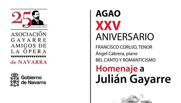 Cartel del recital homenaje a Julián Gayarre.