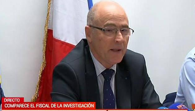 El fiscal de Marsella, responsable de la investigación del accidente, durante su comparecencia ante los medios.