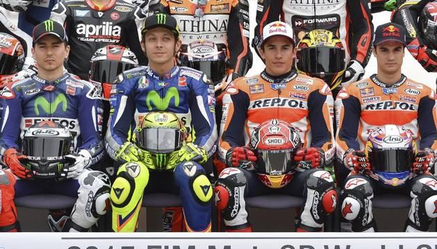 Lorenzo, Rossi, Márquez y Pedrosa, en Catar