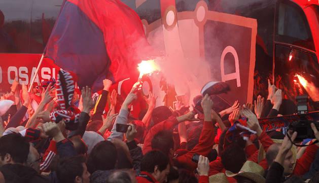 Recibimiento a Osasuna en 2013