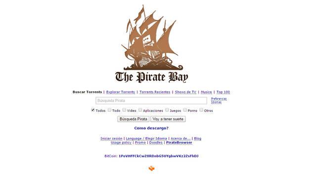 Un juez ordena bloquear el portal de descargas The Pirate Bay en España